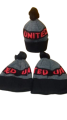 Manchester United Bobble Hat - Red & Gray Design