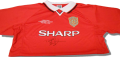 Teddy Sheringham Hand Signed 1999 Champions League Final  Shirt