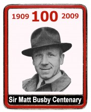Created to celebrate the centenary of the birth of Sir Matt Busby