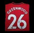 Mason Greenwood 2019/2020 Shirt Hand Signed on the number 26