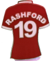 Marcus Rashford Football Kit Badge