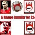 5 BADGES FOR £5 normal price £13 - Xmas bundle £5