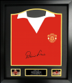 Denis Law name personalised 1973 signed shirt - FRAMED - (Sep 10th 2020)