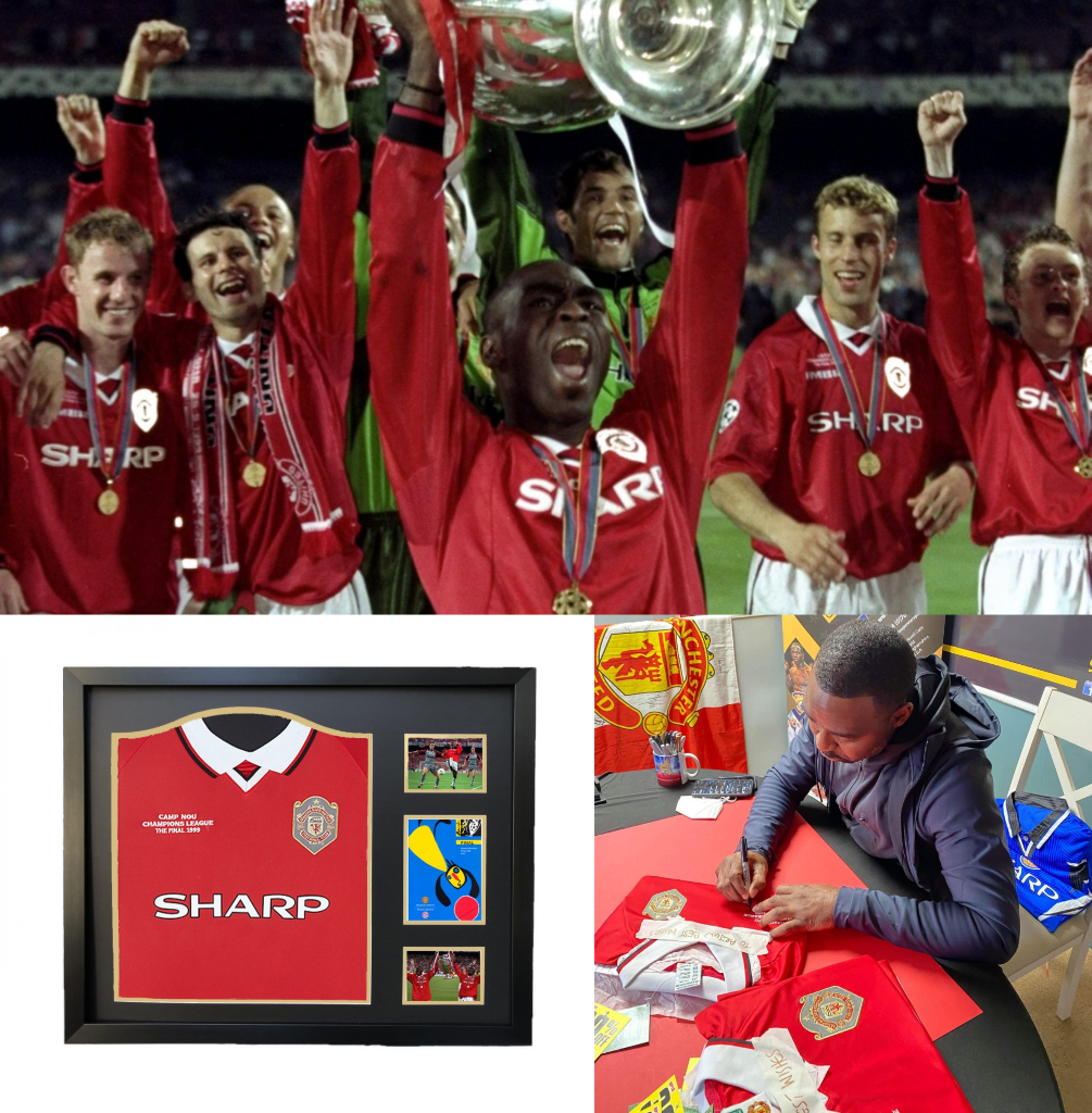 Andy Cole signed shirt - 1999 Champions League Final