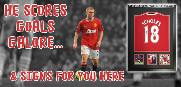 %%FIRSTNAME%% - click here to order your Paul Scholes signed shirt with name dedication of your choice