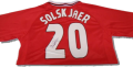 Ole Gunnar Solskjaer signed shirt with rare *Full Signature*