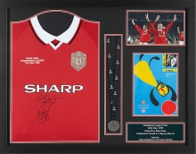 Premium framed with official UEFA Champions League Final medal