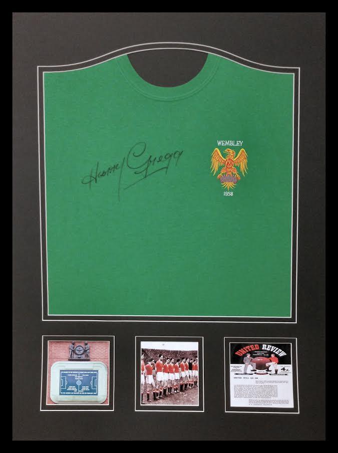 Harry Gregg - Fundraiser - 100 Name Dedicated Signed Shirts